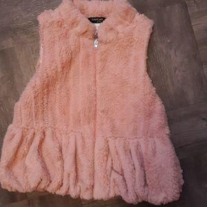 Babe girls fuzzy vest